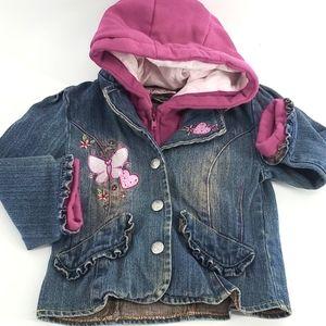 Levi's Toddler girls hooded denim jacket